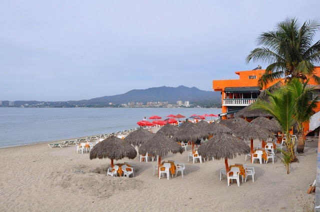 The beach of Bucerias, Mexico