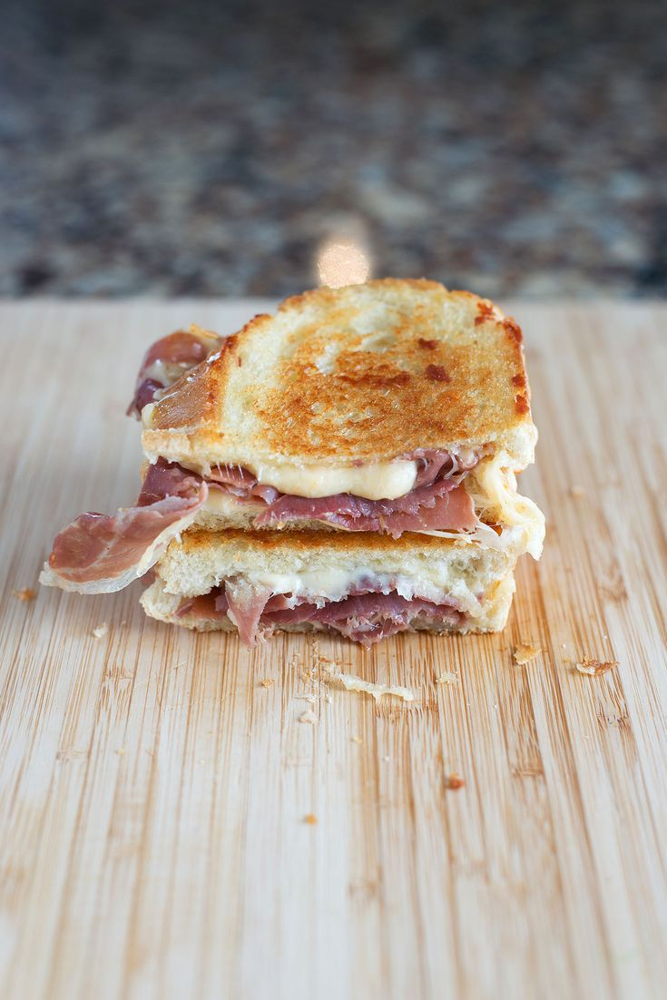 prosciutto & gouda grilled cheese.