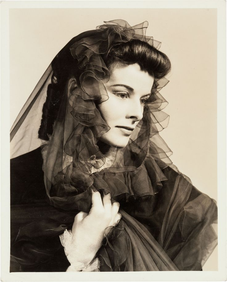 Katharine Hepburn Black and White Photograph by Florence Vandamm, 1937 | The Golden Age of ...