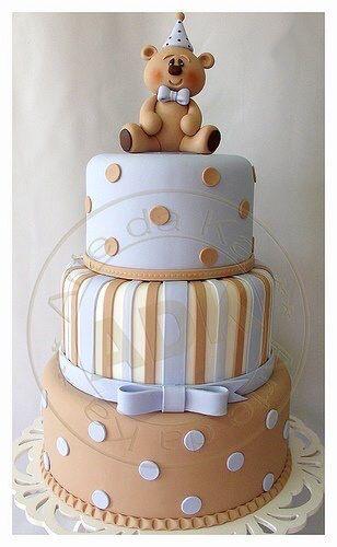Teddy bear baby cake