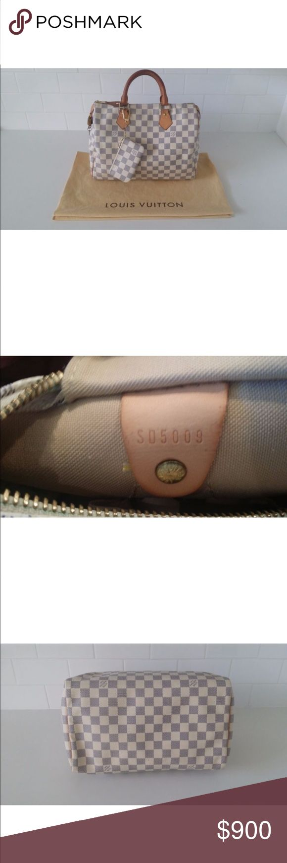 Authentic Louis Vuitton Damier Azur Speedy30 Authentic Louis Vuitton Damier Azur Speedy30 Handbag-Lock,Key, Pouch, Dustbag lower price on PayPal or venmo 😀 Louis Vuitton Bags
