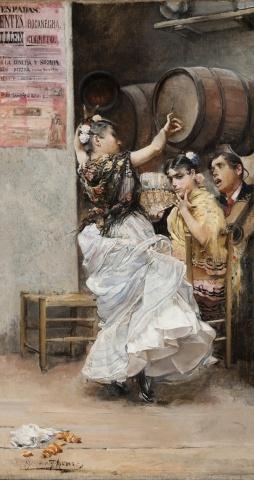 José García Ramos (Sevilla, 1852-1912):  Ramos belonged to the Sevillana 'romantic' school; his paintings give us a wonderful insight to 20th C life in the southern capital ...