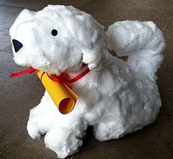 Maltezer puppy is een knutselidee uit de categorie Sinterklaas