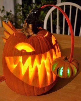 This anglerfish pumpkin takes the cake! Definitely a Halloween winner!