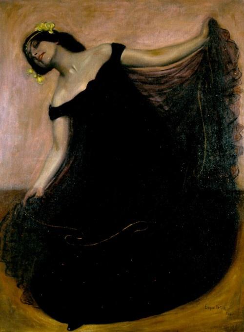 """Eugen Spiro, """"The Dancer Baladine Klossowska""""  Berlinische Galerie"""