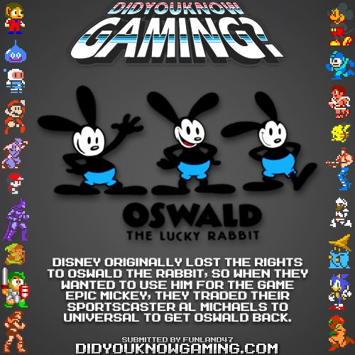 Disney traded Al Michaels to get the rights of Oswald back?