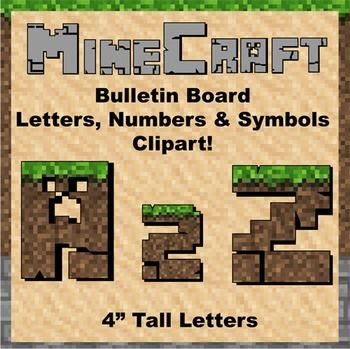 Keywords: minecraft, mine craft, bulletin board, letters, clip art, presentation, classroom decoration, cut out, letters, numbers, symbols, math, writing, algebra, printable, manipulatives, alphabet, numbers, puncuation, multiplication, division, flashcards, color, pack, clipart, search, pattern, design, zebra, www.zisforzebra.com