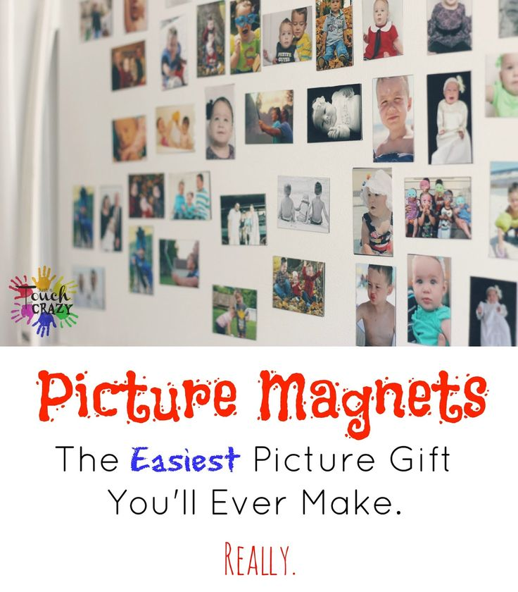 The Easiest Picture Gift You'll Ever Make, picture magnet tutorial
