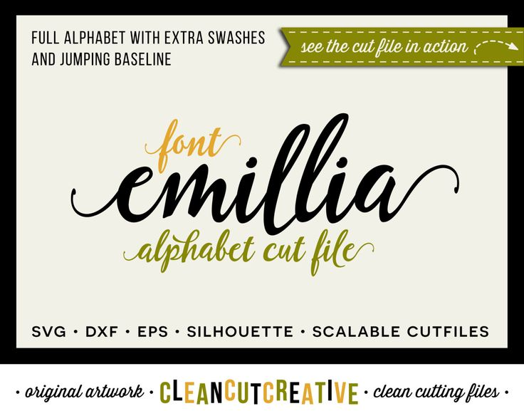 Full Alphabet Font Cutfile   SVG DXF EPS font   for Cricut and Silhouette  Cameo   Fun Script Font   clean cutting digital files by CleanCutCreative  on Etsy. 17 Best images about Alphabets Fonts SVG DXF cut files for Cricut