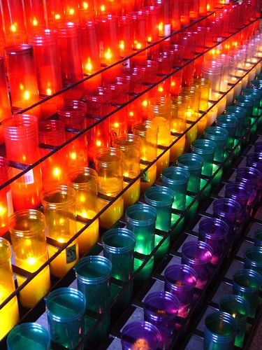 <3 Colored Candles by sfgamchick, via Flickr