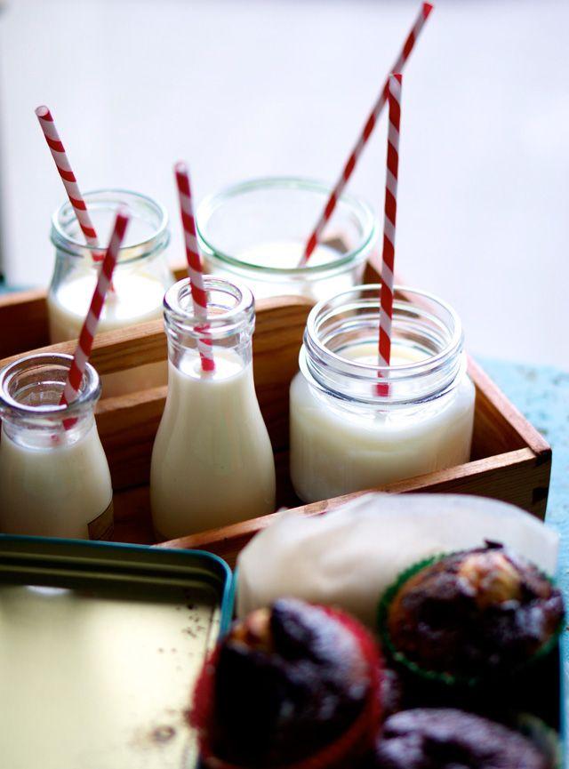 Muffins med pebermynte