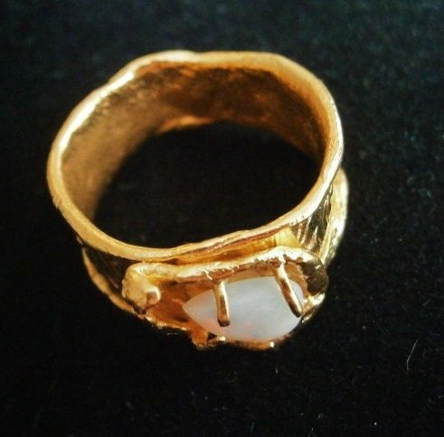 Aurora - gold plated ring