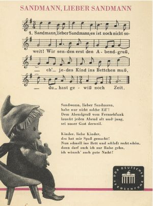 Sandmann Abendgruss Lied, DDR Fernsehen