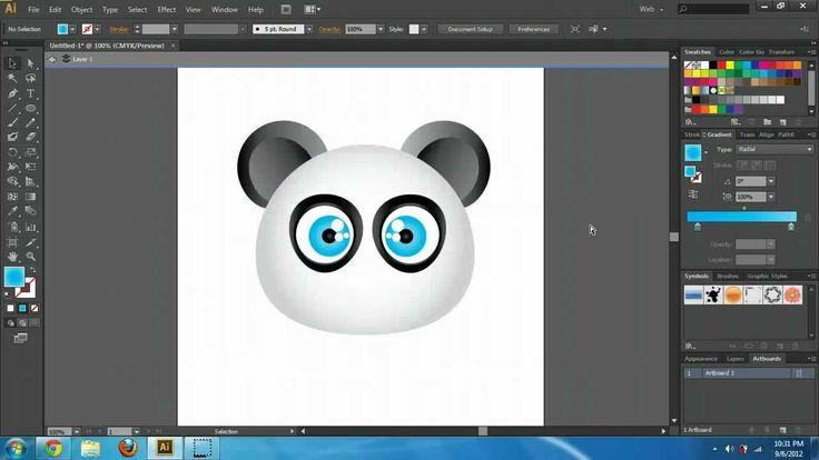 Illustrator CS6 Create Cartoon Characters Tutorial