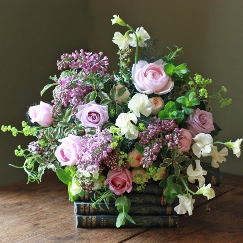 The Real Flower Company Chelsea Lilac Garden Bouquet