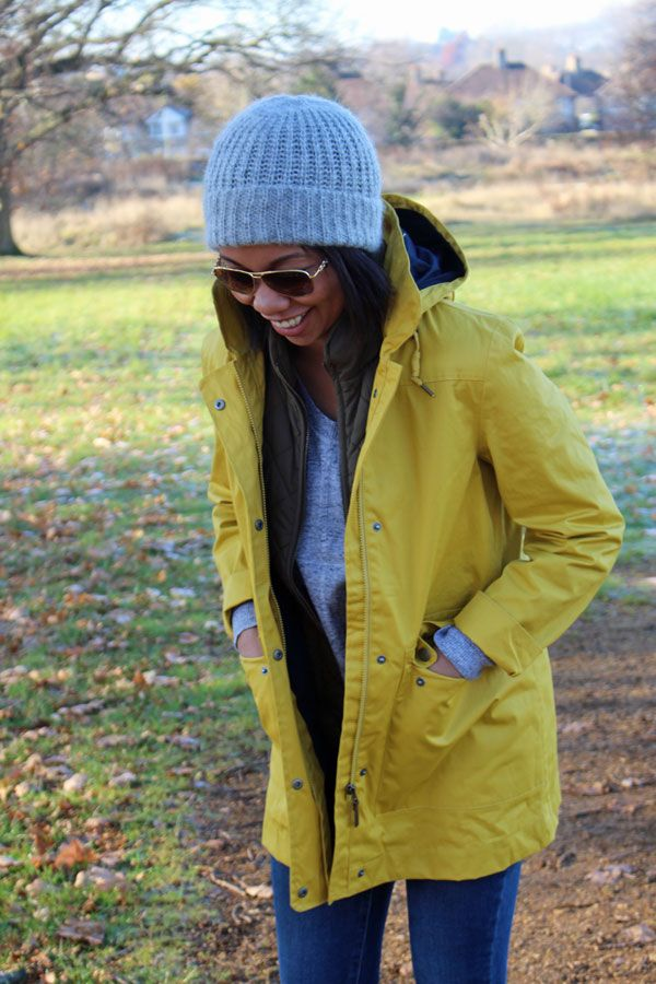 Yellow raincoat, sézane sneakers & ray-bans - The Cole Collection Blog