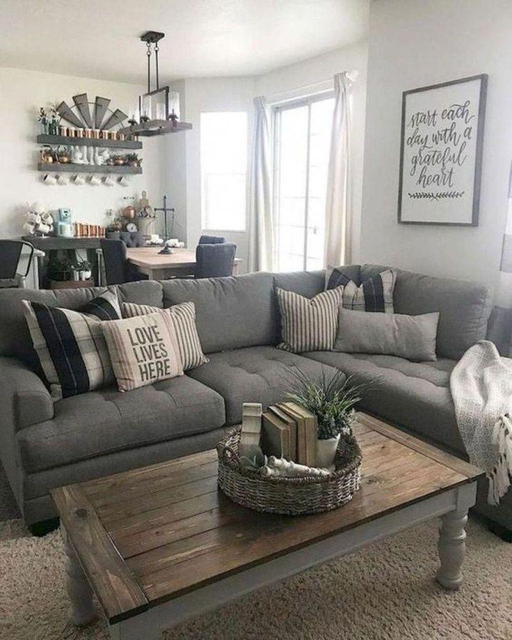 45 Comfy Farmhouse Living Room Decor Ideas