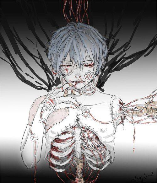 Dark anime boy Guro eavangelion