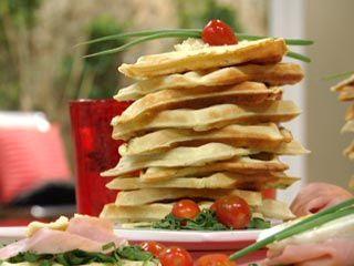 Recetas   Waffles salados   Utilisima.com