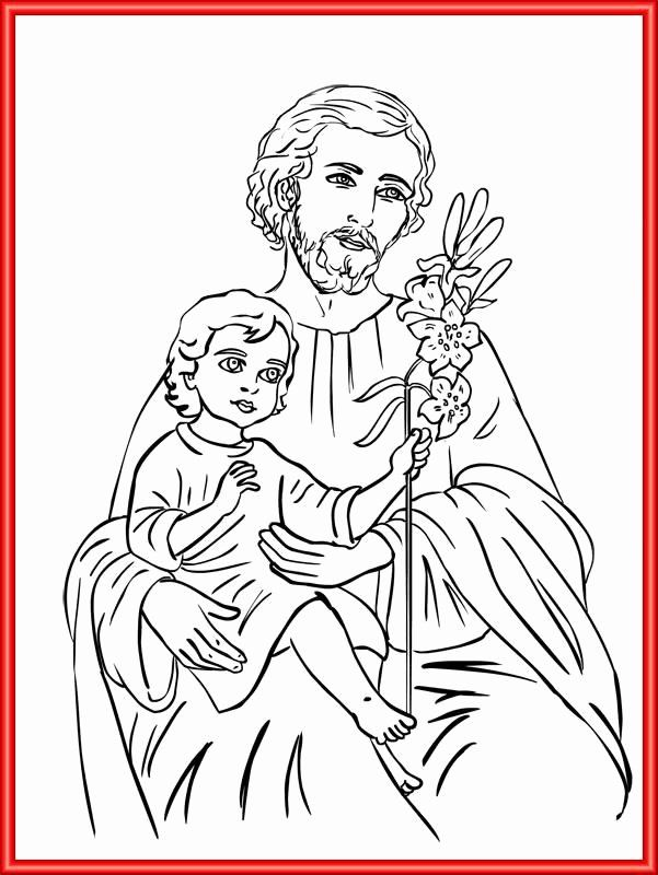 32 St Joseph Coloring Page In 2020 Coloring Pages St Joseph
