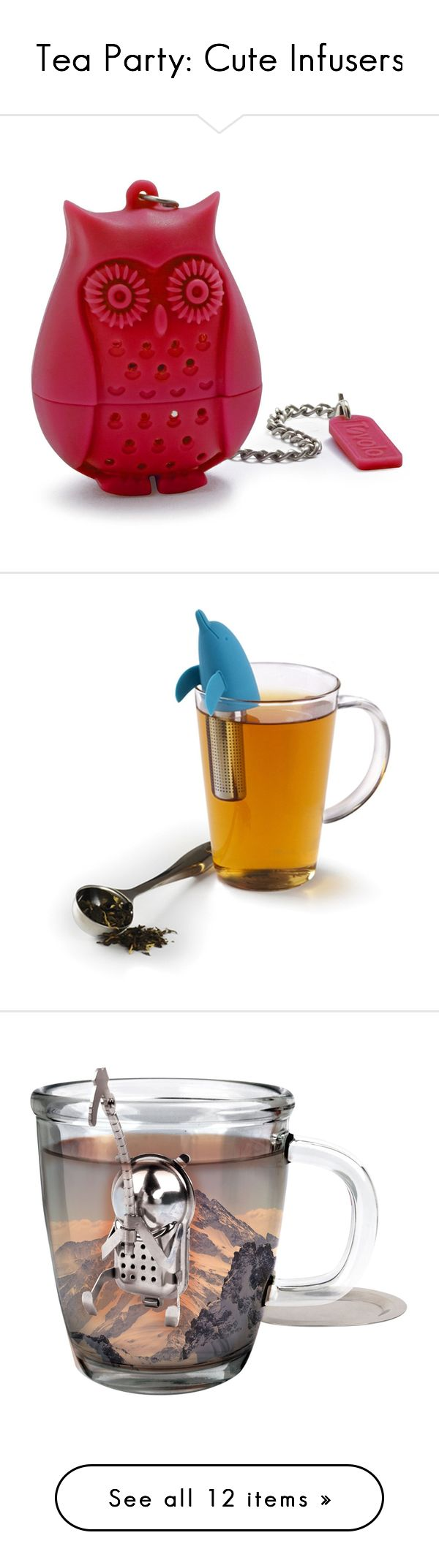 best  tea accessories ideas on pinterest  tea tea time quotes  - tea party cute infusers by polyvoreeditorial on polyvore