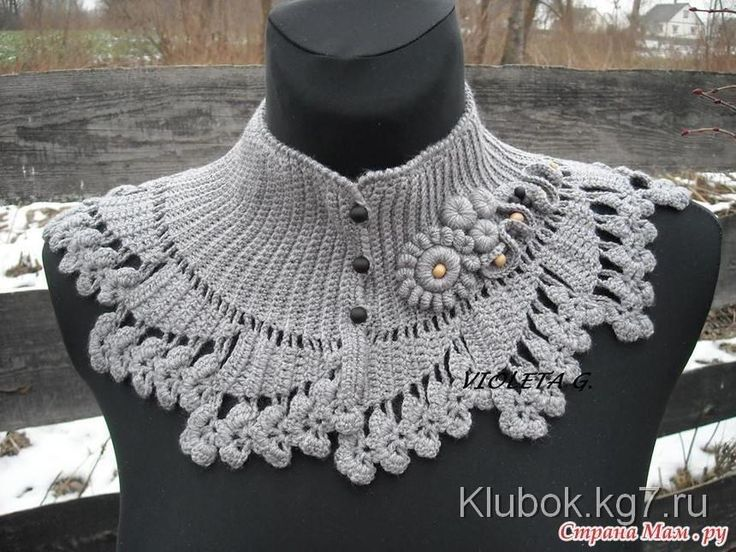 Mejores +100 imágenes de Воротники en Pinterest | Cuellos tejidos ...