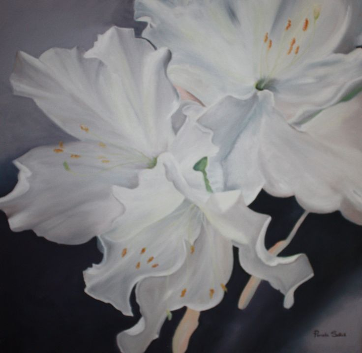White Serenity. 78 x 78cm by Pam Selkirk
