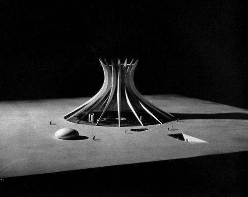 Oscar Niemeyer, Cathedral, Brasilia, Brazil, 1959