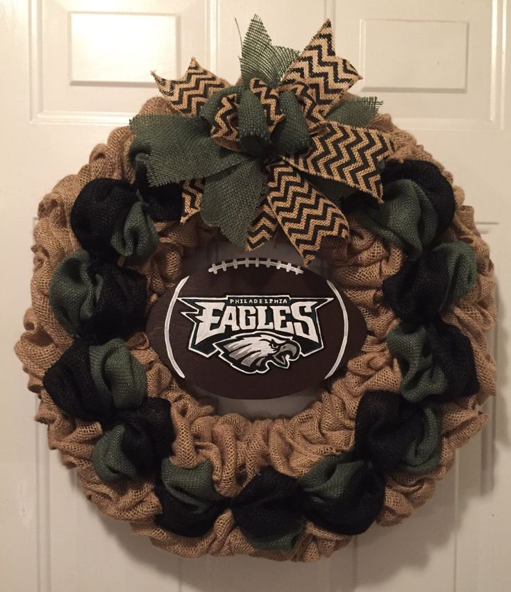 A personal favorite from my Etsy shop https://www.etsy.com/listing/479747895/philadelphia-eagles-wreath-philadelphia