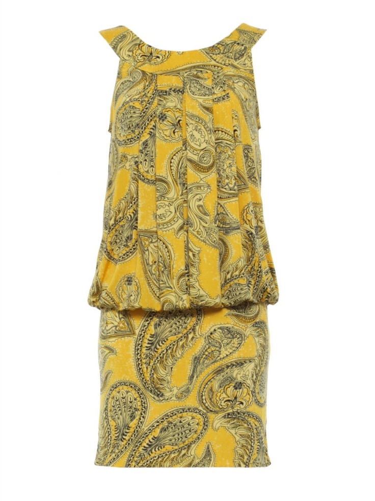 Charlie Brown - 'Casa Mia' Lemon Fizz Tunic. Love the print and the pleats. (http://shop.charliebrown.com.au/casa-mia-lemon-fizz-tunic/)