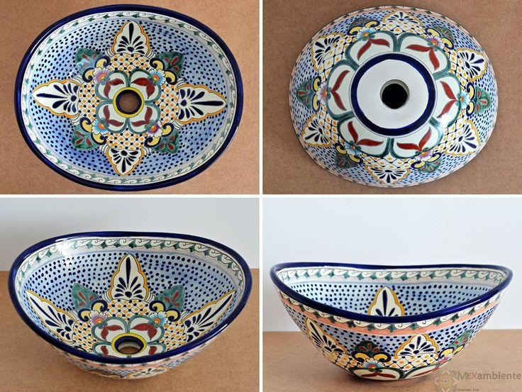 Merida - MEX 7 Aufsatzwaschbecken oval aus Mexiko von Mexambiente