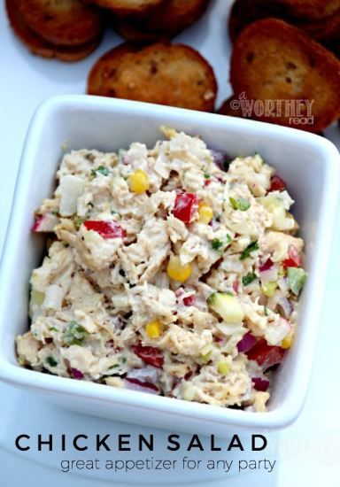 This summer salad will hit the spot for lunch or dinner, since it's delicious and easy recipe to make! Get the Summer Chicken Salad recipe on the blog. Easy, healthy summer recipe to add to your list! Click through for the recipe.