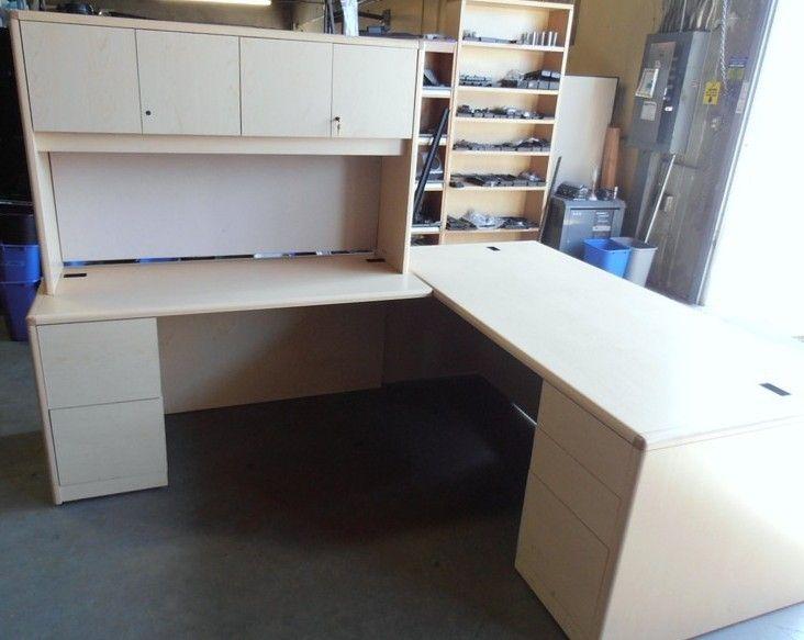 next office desk. used hon lshape desk maple laminate lshape get next office b