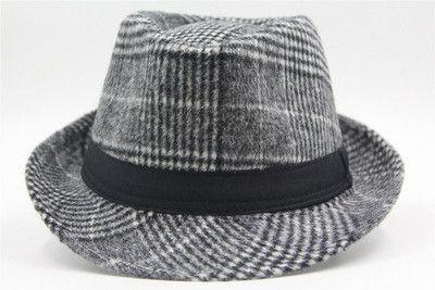 New Wool Felt Fedora Hats For Men Chapeau Masculino Panama Hats Jazz Trilby Gangster Cap