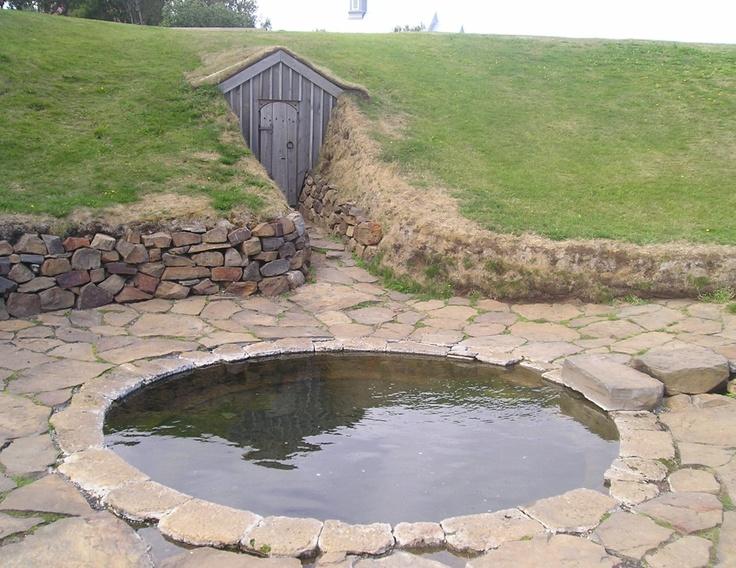 Snorre Sturlassons, 1179-1241, udendørs badekar