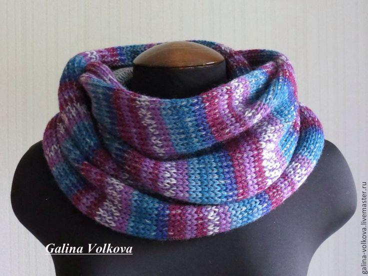 Купить Вязаный мужской шарф- кольцо, снуд, хомут Теплый - шарф, мужской шарф