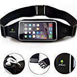 Cheap ATOLLA Sports Running and Fitness Phone Waist Pack Belt for iPhone 6S 6 5S 5 Galaxy S6 Edge S6 S5 S4 (for the...