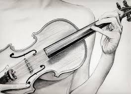 Resultado de imagen para violin dibujo a lapiz