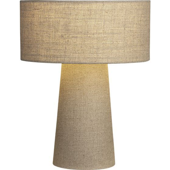 Lite Linen Shade Lamp in Table, Desk Lamps | Crate and Barrel - 13 Best Lamps Images On Pinterest John Lewis, Table Lamps And Lights