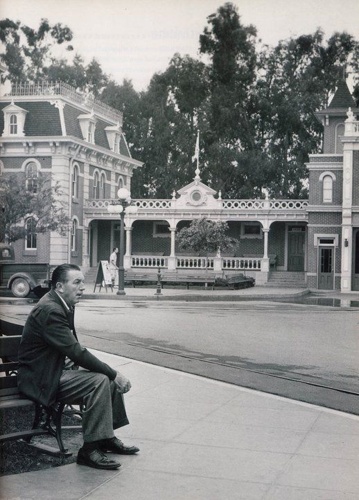 Walt Disney Sitting on Main Street in Disneyland