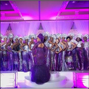 Purple (and silver). | 67 Nigerian Brides Who Absolutely Killed It