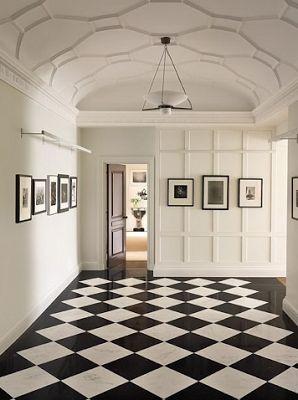 harlekin marmorgolv, svartvitt. harlequin floors