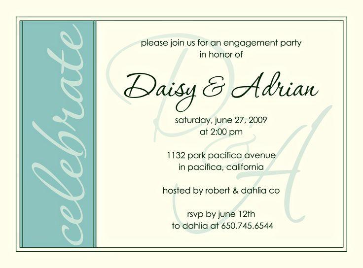 Fun Engagement Party Invitation Wording | Engagement Party Invitation | Daisy & Adrian » Engagement Party ...