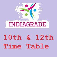10th & 12th Exam Time Table 2016