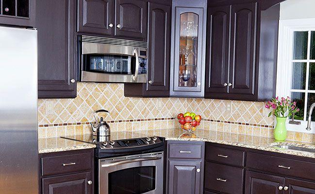 10 best images about travertine tile backsplash on for Kitchen design 4x4
