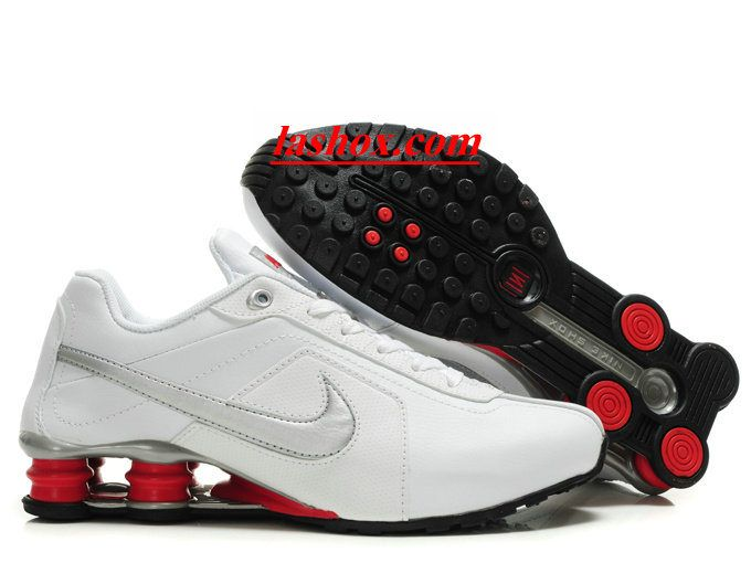 chaussures nike shox r4 homme blanc argent rouge | Nike shox shoes ...