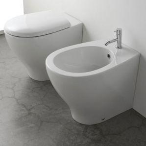 Sanitari bagno a terra filo parete Bowl+ 55.38 MULTI scarico traslato