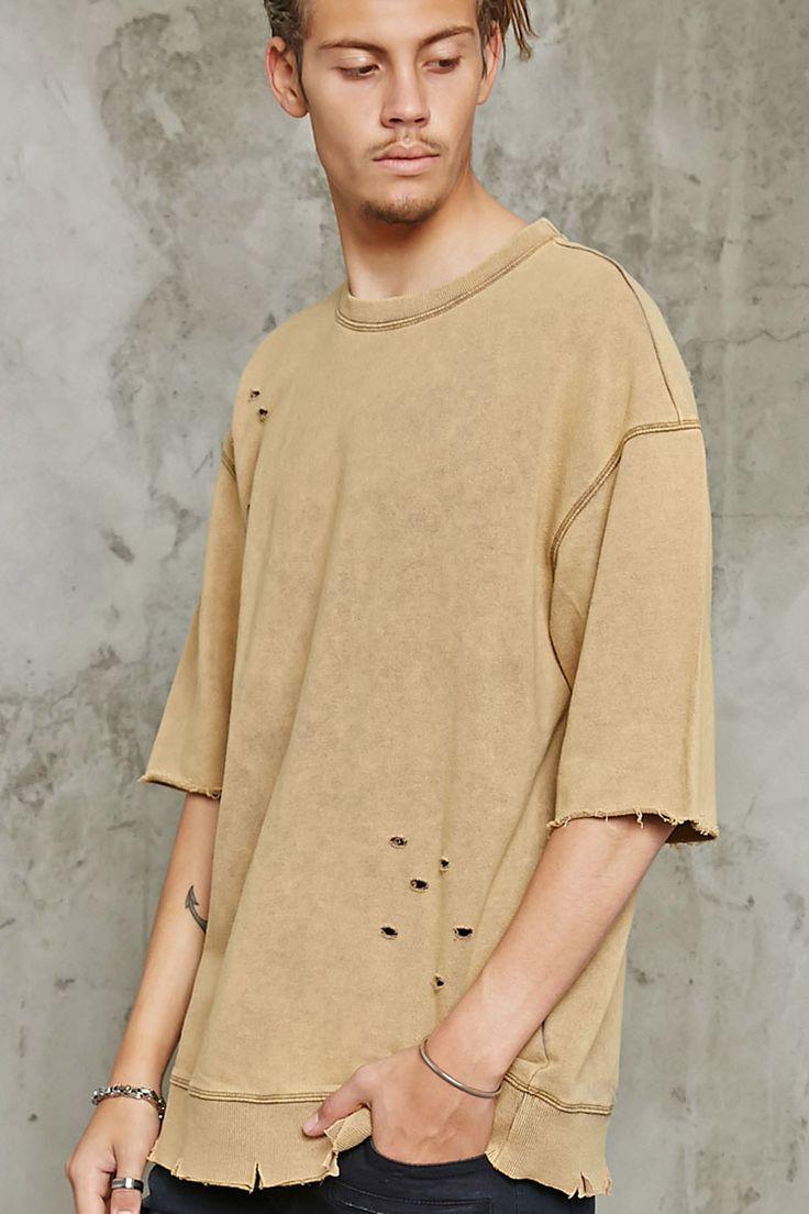 Distressed Terry Sweatshirt