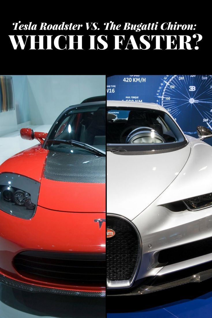 Tesla Roadster Versus The Bugatti Chiron: Which is Faster? | Cars