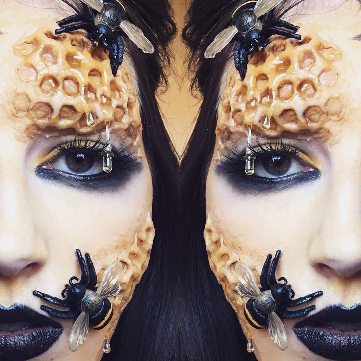 Halloween makeup inspiration  Queen bee makeup  @tangledandteasedhair